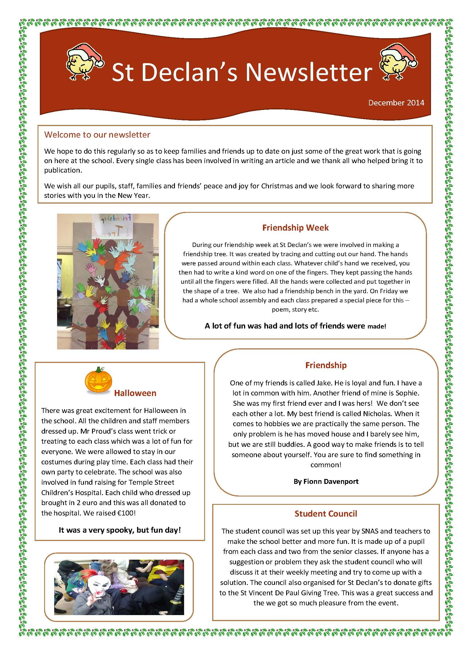 NewsletterChristmas2014 Page 1